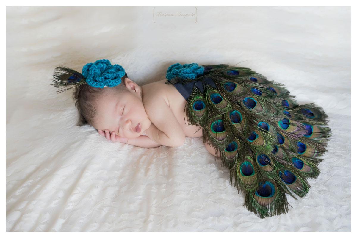 vestitino pavone per neonati