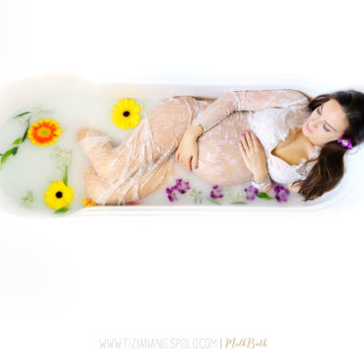 foto gravidanza milk bath